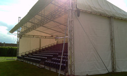 600 seat covered tiered seating
