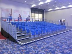109 seat indoor tiered seating block