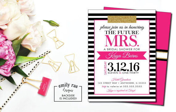 KATE SPADE INSPIRED BRIDAL SHOWER - ON A BUDGET
