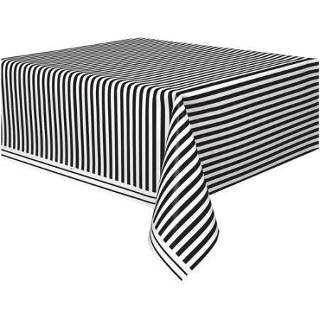 Black and White Stripped Tablecloth