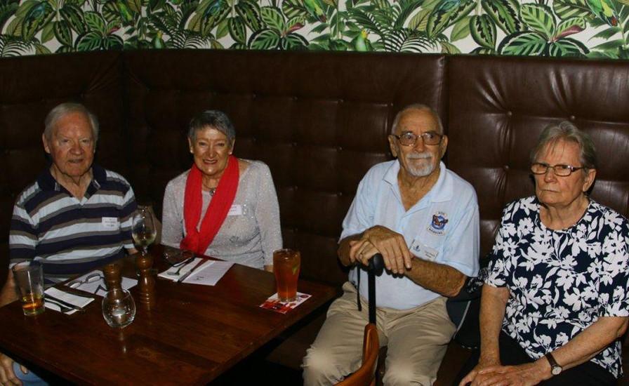 Merv McDougall 8,  Barb Lowery,  Les 8 and Gwenda Bunn.