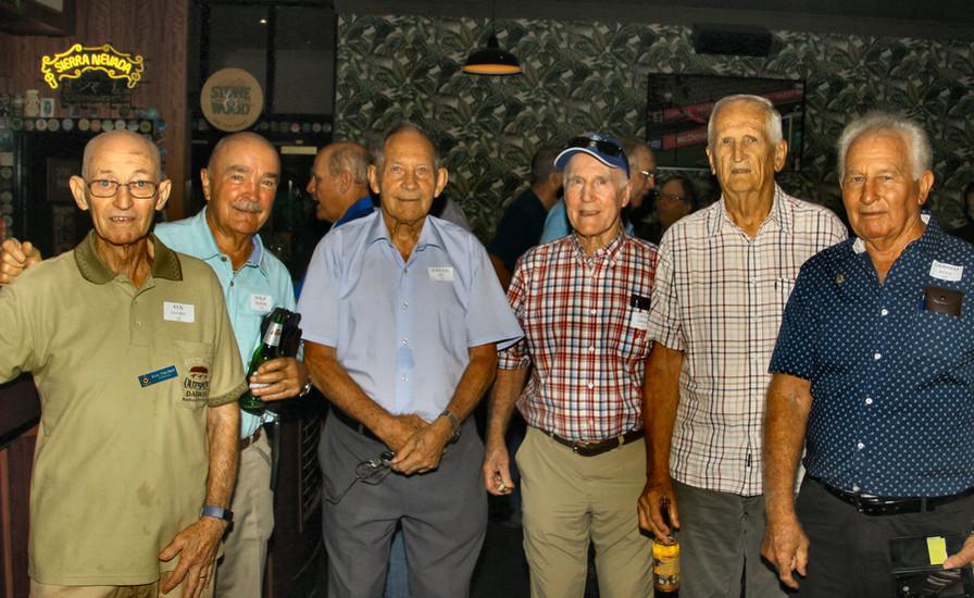 Ken Fischer 10,  Phil Duncan 10,  Gordon Leo 10,  Denis Griggs 10,  Aussie Pratt 10,  Graham Bickle 10.,  Gordon