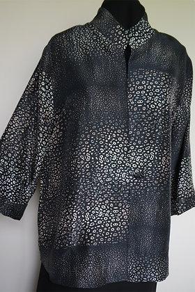 Long Shirt Jacket, pattern Spots Dark, size M