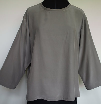 Three-quarter Sleeve Shell, taupe, size XL