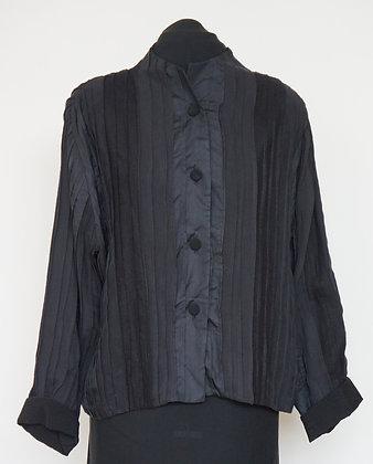 24. Short Tucked Jacket, mixed silks, size XL