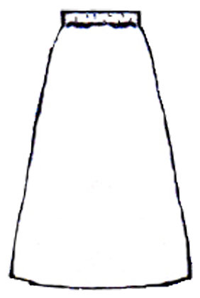 Skirt, black noil (raw silk), size XXXL