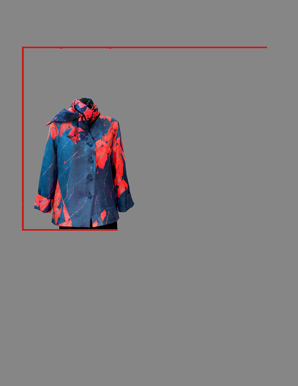digital print silk jacket