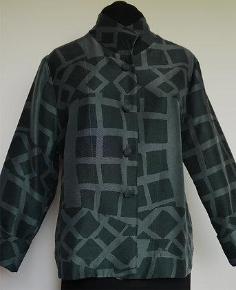 Button Jacket, pattern Stari Grad Green, size S