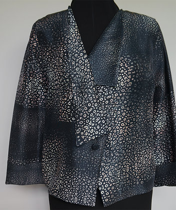 Short Lapel Jacket, pattern Spots Dark, size S
