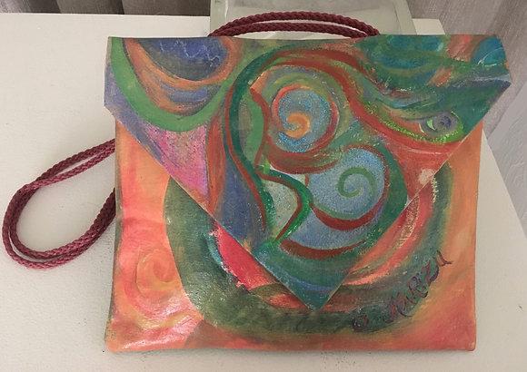 Abstract Circle Handbag