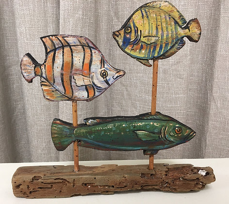 Three Fish on a Stand