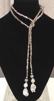 Silver Crystals, Fresh Water Pearls, and 14K Gold Beads Laureate