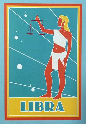 Libra Zodiac Sign Print