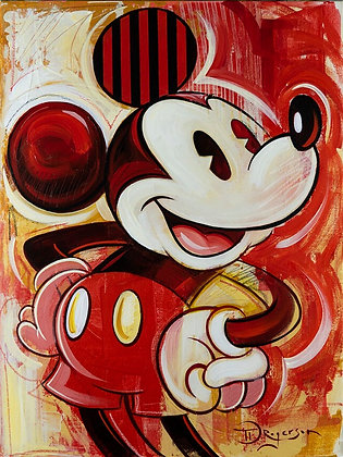 Mickey on Red