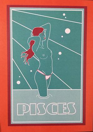 Pisces Zodiac Sign Print
