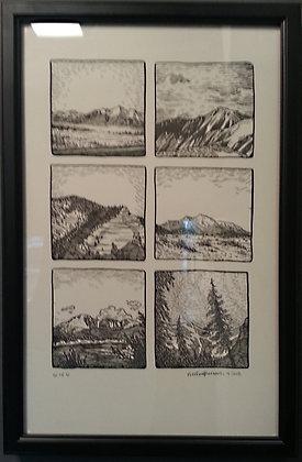 Colorado Mountains - Letterpress (2 of 6)