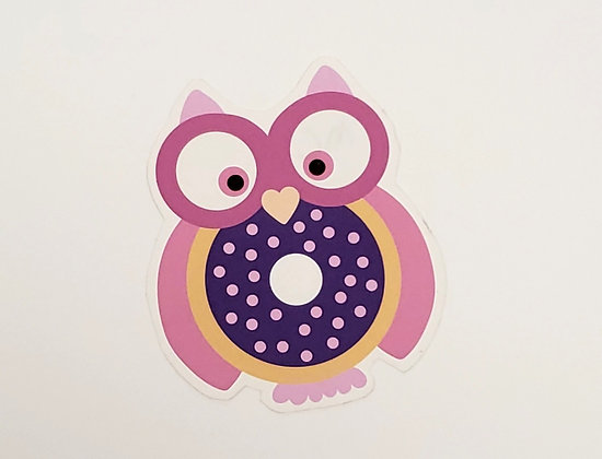 Donut Owl Stickers