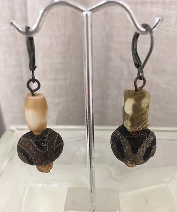 Batik Resin Earrings