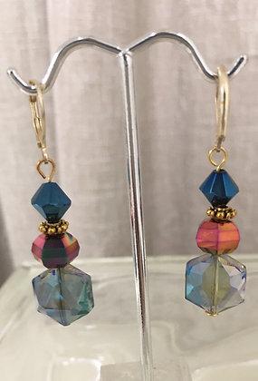 Iridescent Glass  Earrings