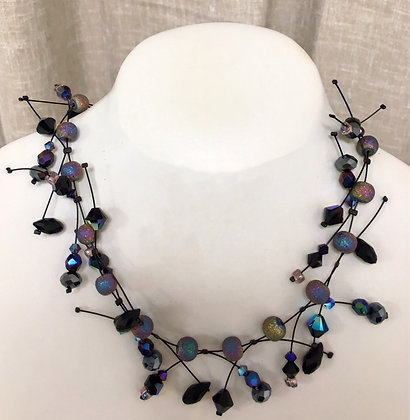 Quartz and Crystal Floating Necklace