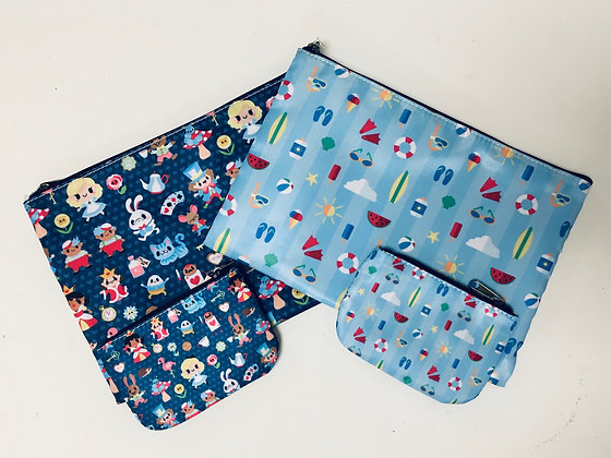 Cosmetic or Pencil Bag with Zipper