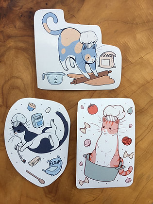 Kitty Kitchen Stickers