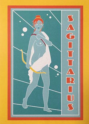 Sagittarius Zodiac Sign Print