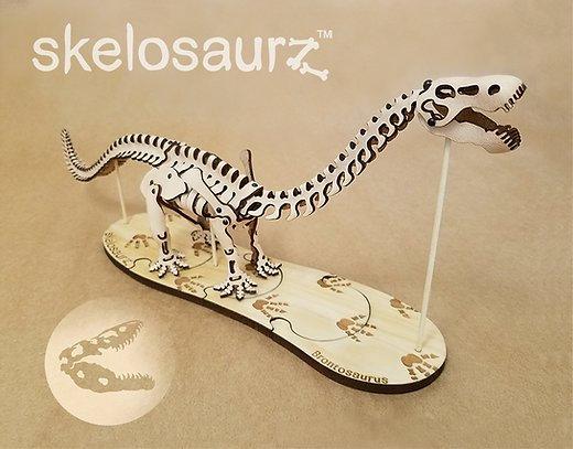Leather Skelosaurz Brontosaurus Fossill