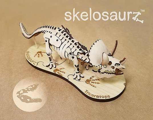 Leather Skelosaurz Triceratops Fossil
