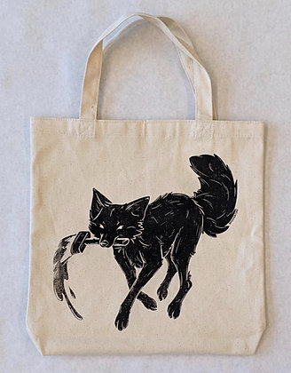 Painter Fox Canvas Bag