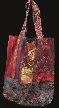 Silk Maroon Iridescent Handbag