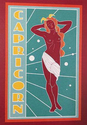 Capricorn Zodiac Sign Print