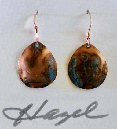 Copper with Patina  Earrings