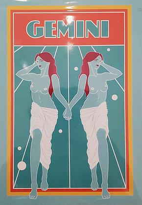 Gemini Zodiac Sign Print