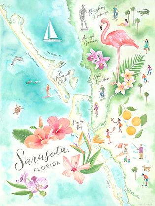 Sarasota, Florida Map