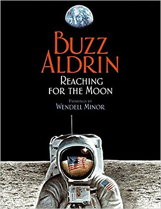Buzz Adlrin Reaching For the Moon
