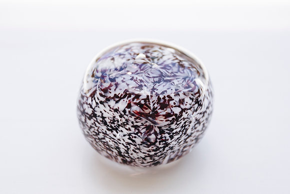 Ruby & White Paperweight 1