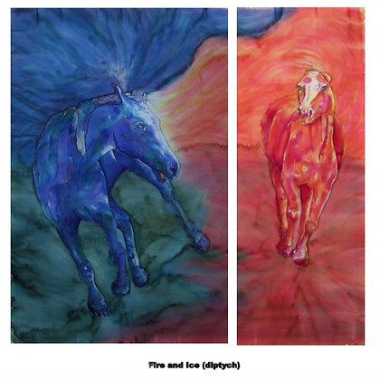 Fire and Ice Diptych