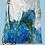 Thumbnail: Blue and White Abstract Handbag