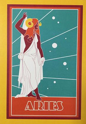 Aries Zodiac Sign Print