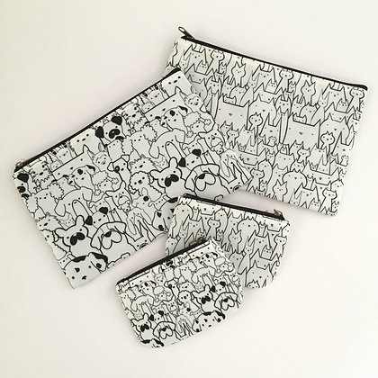 Cosmetic or Pencil Bag-Lotsa Dog and Lotsa Cats