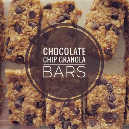 Chocolate Chip Granola Bars
