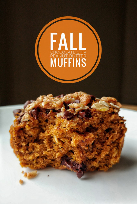 Fall Chocolate Chip Peanut Butter Muffins