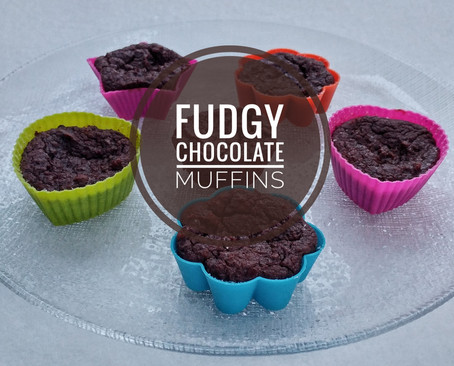 Fudgy Chocolate Muffins