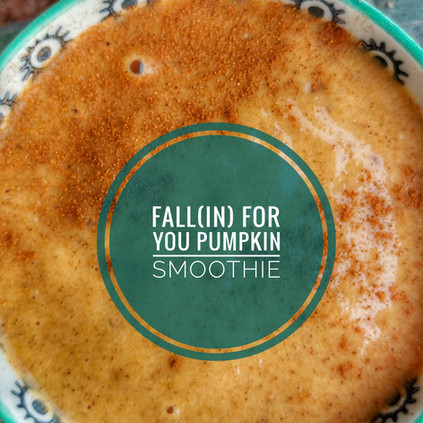Fall[in] For You Pumpkin Smoothie