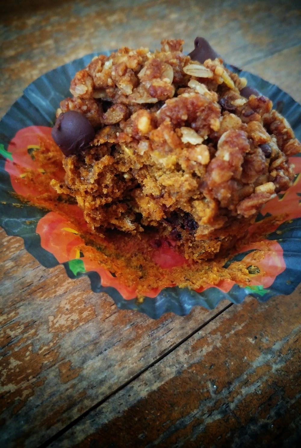 Fall Chocolate Chip Peanut Butter Muffins