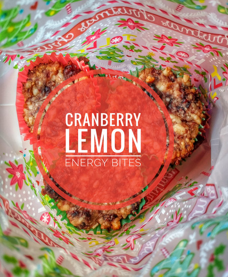 Cranberry Lemon Energy Bites