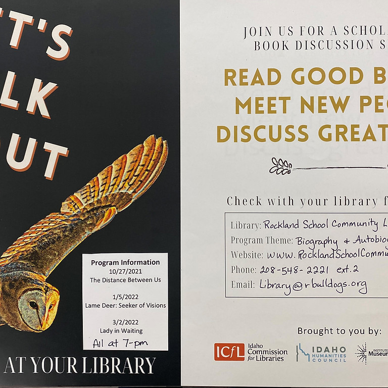 """""""Let's Talk About It"""" Book Club"""