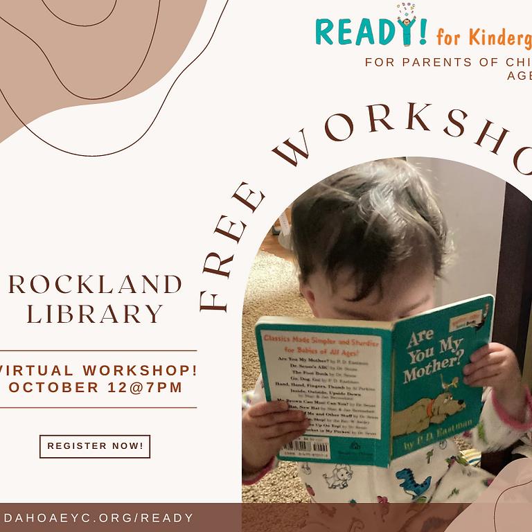 READY! For Kindergarten Virtual Workshop