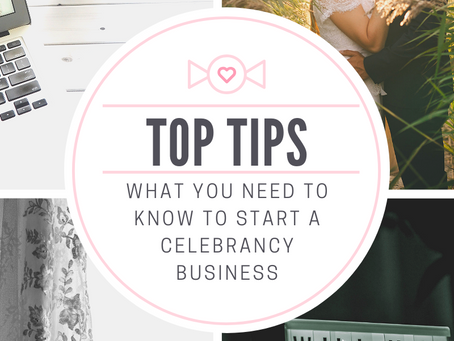 Top tips you need to know to start a Celebrancy business